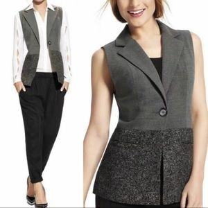 CAbi Over The Moon Sleeveless Tweed Vest